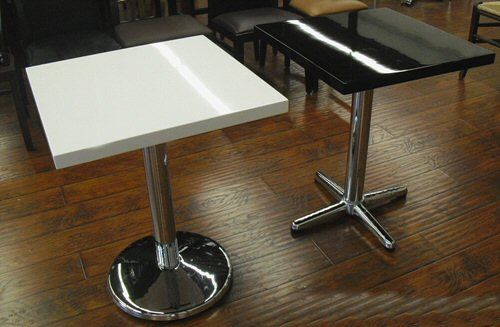Plain Black And White Epoxy Resin Table Tops
